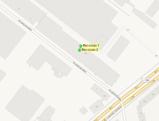 Neue Freifunk-Zugangspunkte beim Chaos Computer Club Aachen